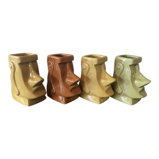 Tiki Farm Moai Munchkin Shot Glasses - Set of 4