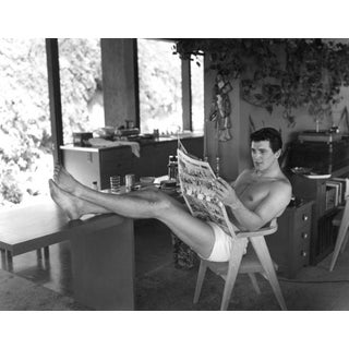 """1952 Sid Avery """"Rock Hudson at Home"""" 20x24 Photograph For Sale"""