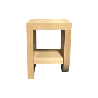 Cerused Oak Side Table For Sale