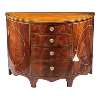 A High Georgian Demilune Mahogany Cabinet For Sale