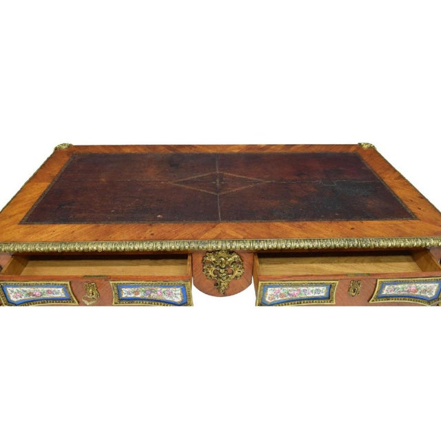 Louis XV Style Sèvres Mounted Bureau Plat, 19th Century For Sale - Image 11 of 13