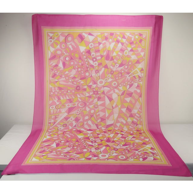 Large Emilio Pucci Cotton Sarong Length Scarf For Sale - Image 12 of 12