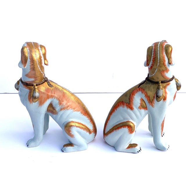 Paul Hanson Paul Hanson Italy, Chinoiserie Dogs - a Pair For Sale - Image 4 of 8