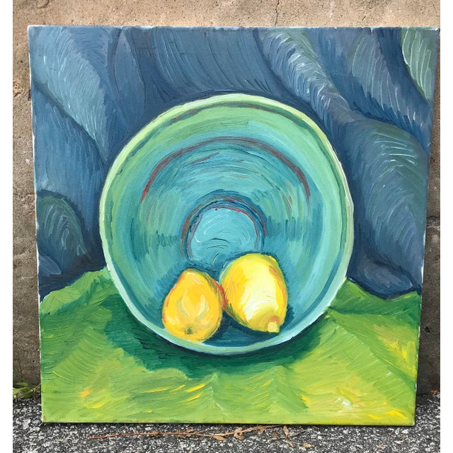 Unframed Oil on canvas in the manner of Van Gogh. Nice heavy Impasto and brush strokes. Probably dates from the 90s.