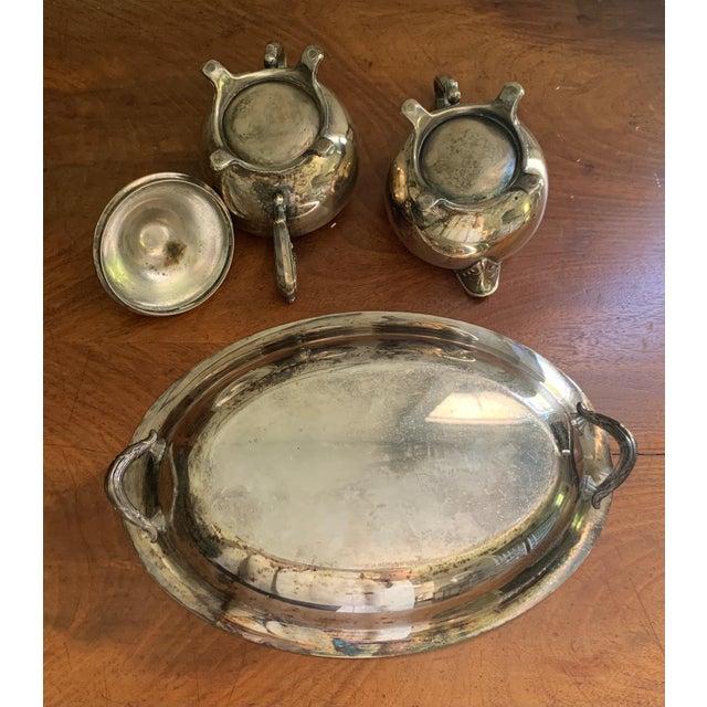 Antique Silver Cream & Sugar Set- 3 Pieces For Sale - Image 4 of 11