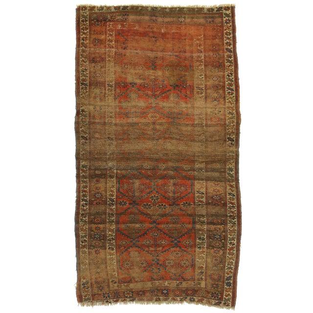 """Antique Persian Kurdish Bijar Wool Rug - 4'4"""" X 7' For Sale"""