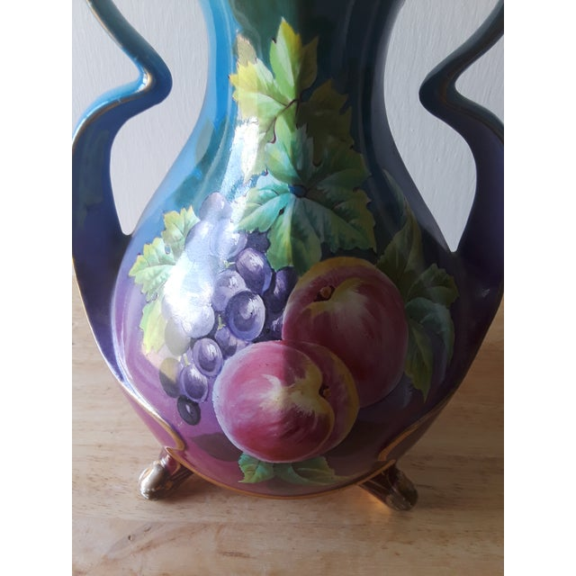 Double Gourd Hand Painted Vase With Fruit For Sale - Image 9 of 10