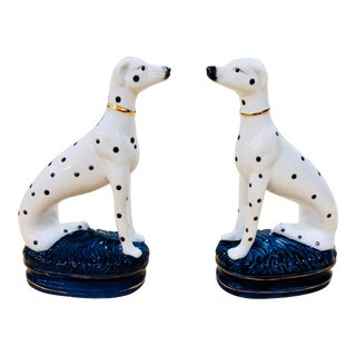 1990s Regency Staffordshire Dalmatian Dog Figurines - a Pair