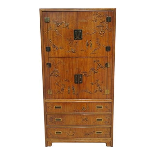 """1980s """"Dynasty"""" Campaign Collection Chinoiserie Storage Cabinet by Drexel Heritage For Sale"""