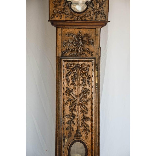 French Carved 18th C French Lantern Clock Case With Movement For Sale - Image 3 of 13