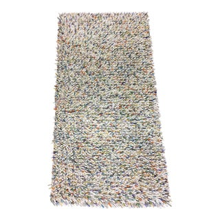 "Mid-Century Multi Color ""Noodle Rug"" - 2′7″ × 5′1″ For Sale"