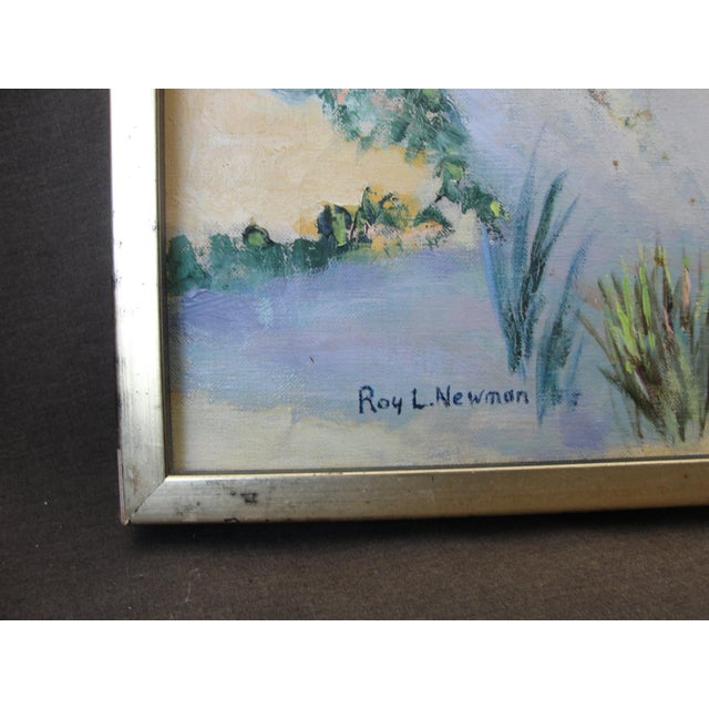 Vintage Oil on Canvas Painting - Image 6 of 10
