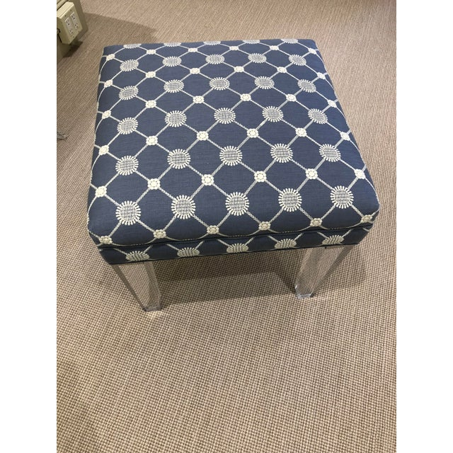 Traditional Early 21st Century Vintage Transitional Ottoman For Sale - Image 3 of 7