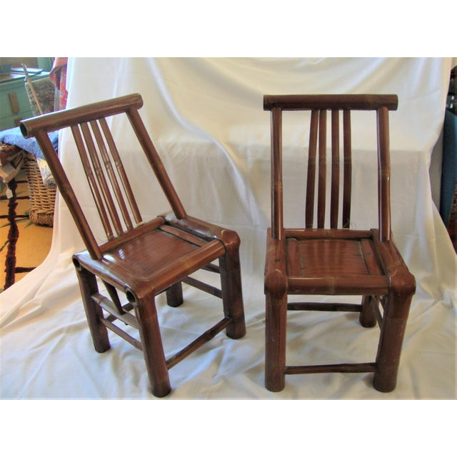 Primitive Bamboo Chairs- A Pair - Image 2 of 8