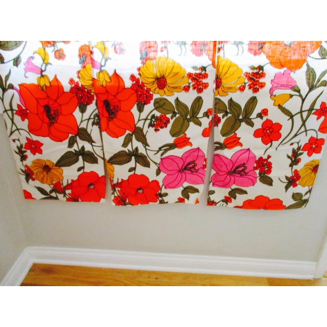 Vintage Swedish Flower Wall Panels Curtains Textile - Set of 4 - Image 6 of 10