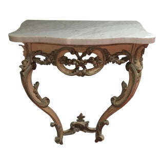 French Louis XV Period Painted Console Table