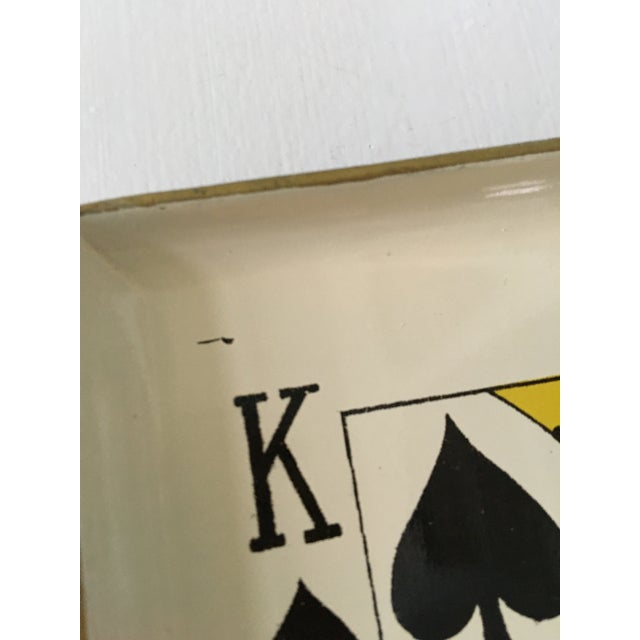 Plastic 1960's Vintage Snack Trays in Playing Card Shapes - Set of 4 For Sale - Image 7 of 13