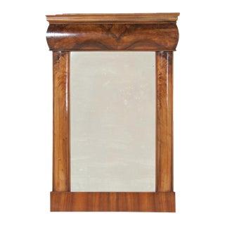 19th Century Walnut Biedermeier Mirror