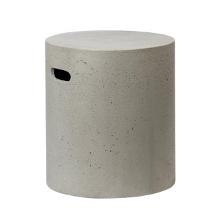 Round Cement Stool / Side Table For Sale