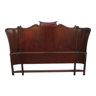 Chippendale Hand Carved Full Size Headboard For Sale