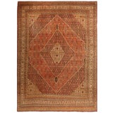 Image of Early 20th Century Antique Persian Tabriz Rug - 10′5″ × 13′9″ For Sale