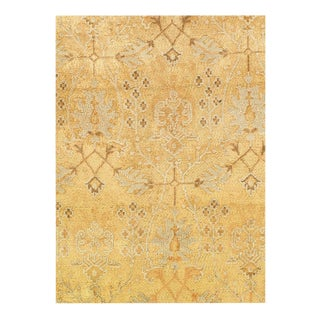 "1920s Vintage Pasargad Antique Indo Agra Wool Rug - 5′9"" × 16′ For Sale"