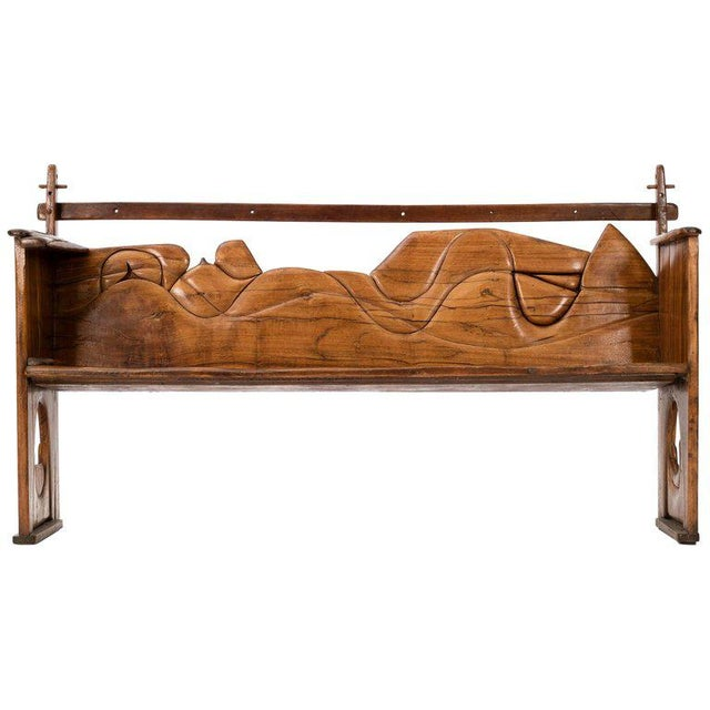Jan De Swart Bench This bench made with walnut hand-carved by the Artist has many playful design details, the adjustable...