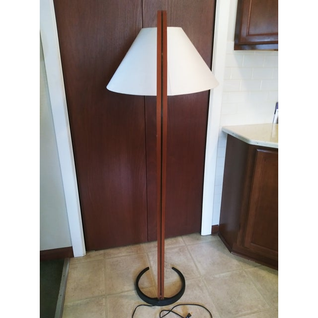 Caprani Light AS VIntage 1970s Danish Modern Mads Caprani Bent Teak Floor Lamp For Sale - Image 4 of 13
