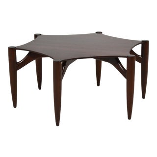 Greta Grossman Rosewood Coffee Table For Sale
