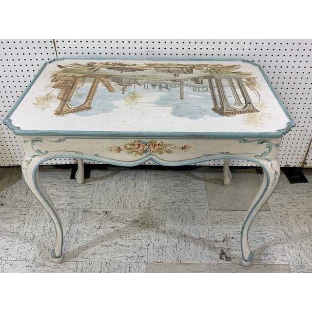 Venetian Painted Table or Desk For Sale - Image 9 of 11