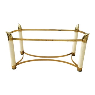 1980s Italian Brass Dining Table Base For Sale