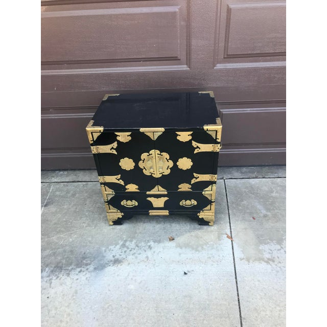 19th Century Antique Black Chinese Cabinet For Sale - Image 13 of 13
