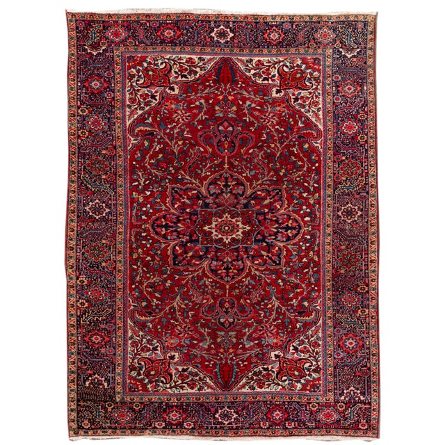 Mid 20th Century Vintage Persian Rug For Sale - Image 9 of 9