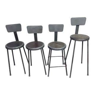 Gray Workshop Metal Stools - Set of 4