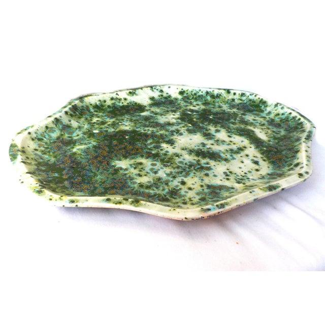 Vintage Glazed Ceramic Serving Dish Tray - Image 3 of 7