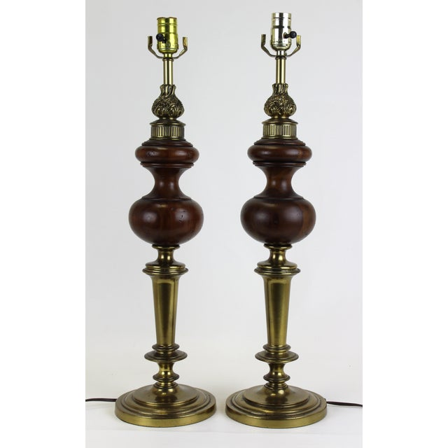 Metal Mid-Century Rembrandt Table Lamps - A Pair For Sale - Image 7 of 7