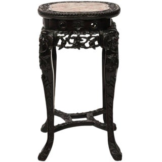 19th Century Chinese Carved Hardwood Export Stand For Sale