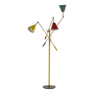 Arredoluce Triennale Three Arm Floor Lamp For Sale