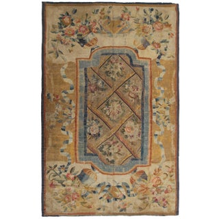 Late 18th Century Antique French Directoire Aubusson Rug-6′8″ × 9′10″ For Sale