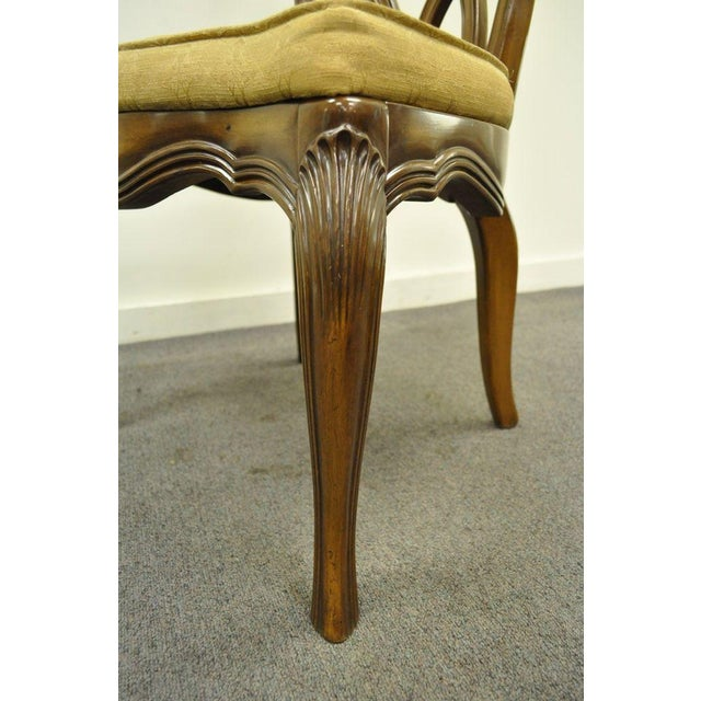 Vintage Hollywood Regency Solid Wood Loop Back Side Occasional Desk Dining Chair For Sale In Philadelphia - Image 6 of 11