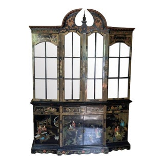 Mid 20th Century Chinoiserie China Cabinet For Sale