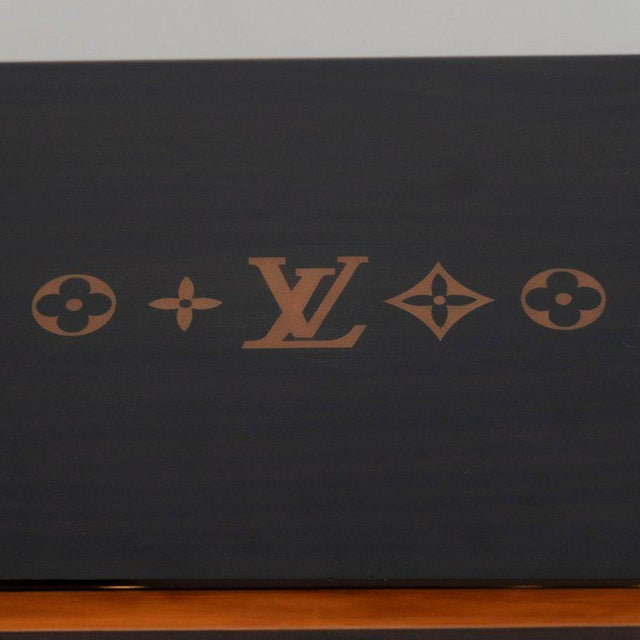Hollywood Regency Modernist Rosewood and Cedar Monogrammed Humidor by Louis Vuitton For Sale - Image 3 of 9