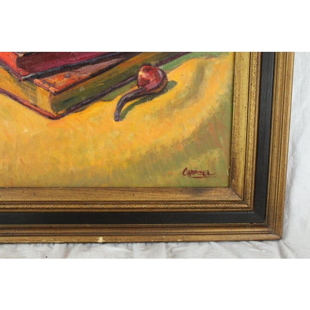 "English Traditional ""Dreams of Travel"" Oil Painting by Foster Caddell For Sale - Image 3 of 5"