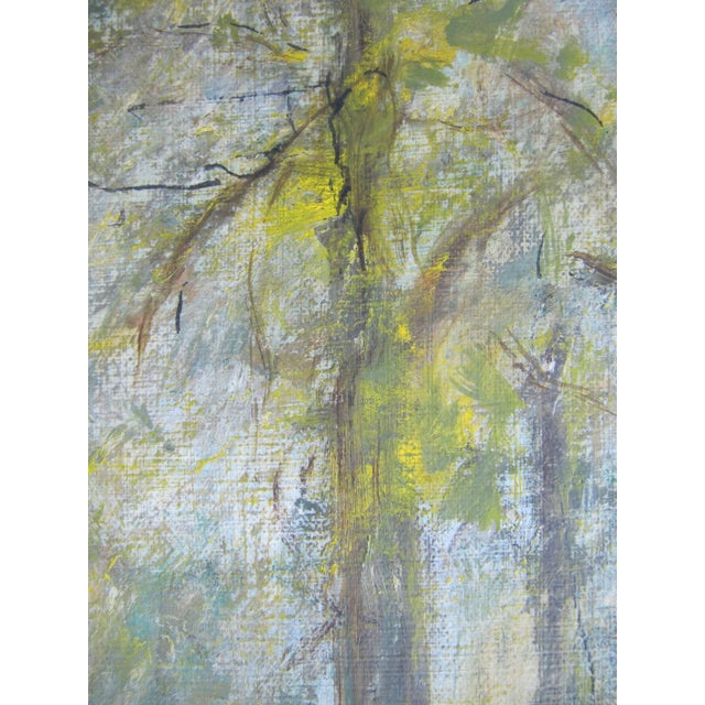 1980s Vintage Impressionist Forest Painting For Sale - Image 5 of 7