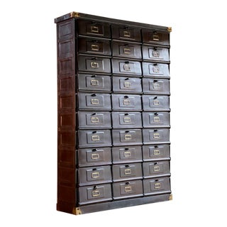 French Industrial Steel Cabinet by Strafor-Forges De Strasbourg For Sale