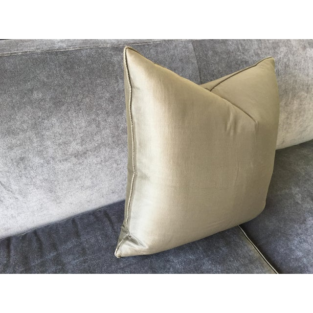 2000s Christian Liaigre Silk Pillow For Sale - Image 5 of 8