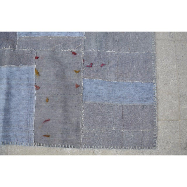 Gray Patchwork Rug - 5′8″ × 7′10″ For Sale - Image 5 of 6