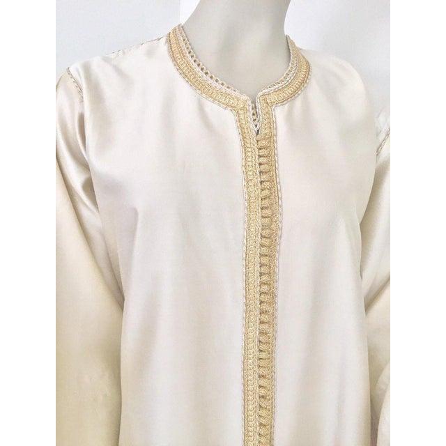 Moroccan Elegant Luxury Dupiono Silk Caftan Gown Maxi Dress For Sale - Image 12 of 13
