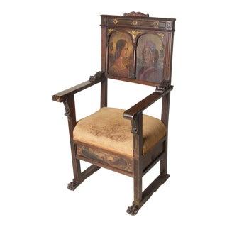 Late 19th Century Vintage Italian Renaissance Revival Arm Chair For Sale