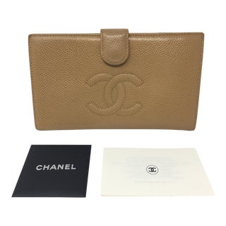 Chanel Long Caviar Leather Wallet For Sale